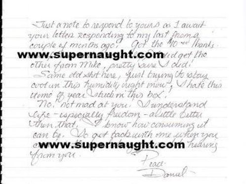Daniel Siebert Signed Letter from Death Row