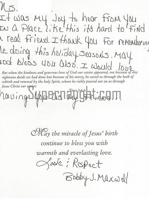 Bobby Joe Maxwell Signed Card Skid Row Slasher California
