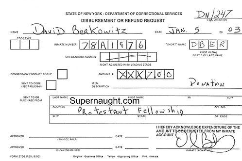 David Berkowitz documents