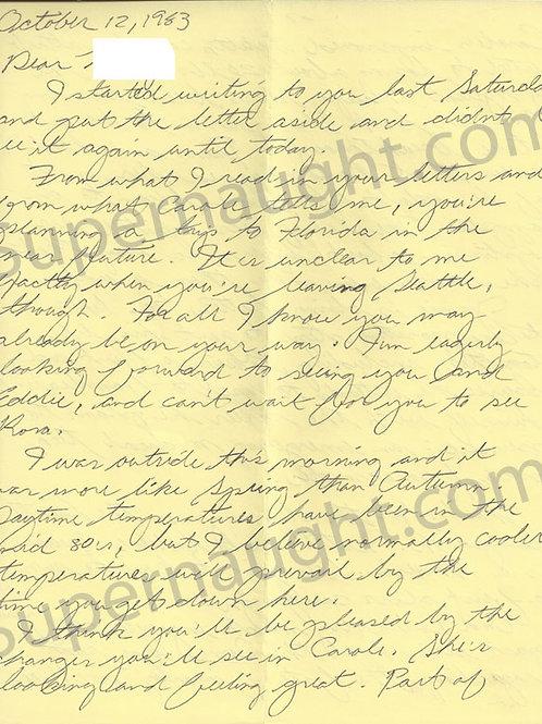 ted bundy handwritten letter