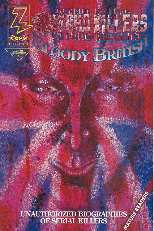Psycho Killers Bloody British Comic Book Peter Sutcliffe Dennis Nilsen