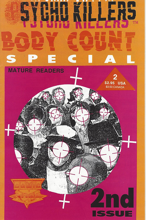 Psycho Killers Body Count 2nd Comic Book 1992
