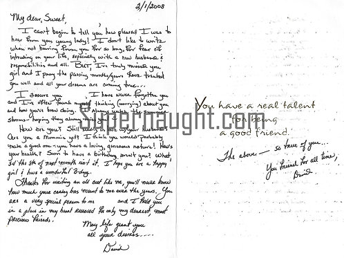 David Owen Brooks letter