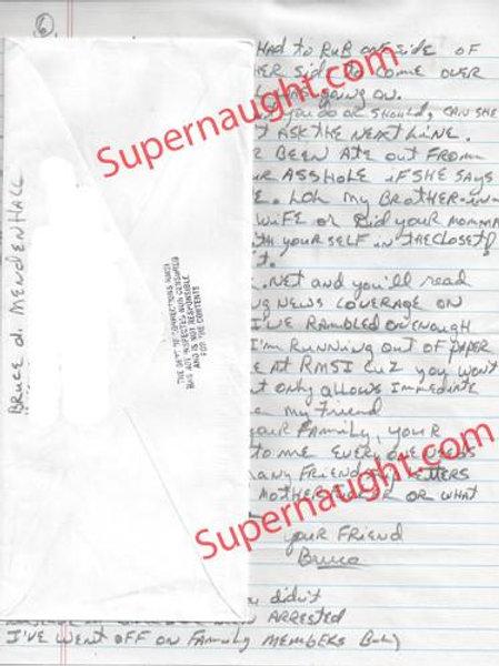 Bruce Mendenhall signed letter