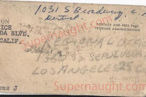 Thomas Walleman Veterans Administration Card