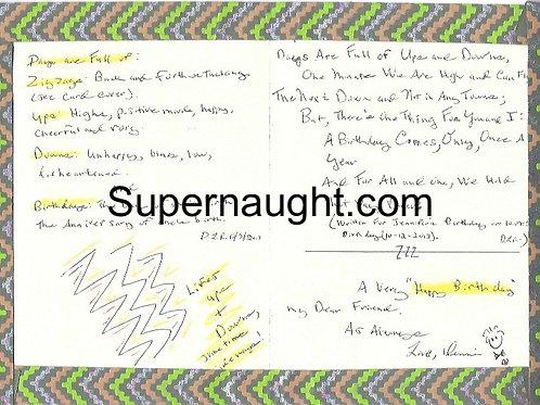 Dennis Rader Handmade Birthday Card And Envelope Set Both Signed