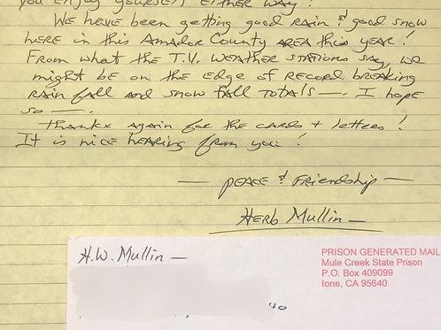herb mullin letter
