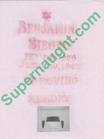 Benjamin Bugsy Siegel Grave Rubbing