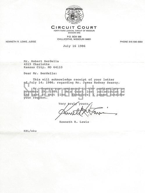 Robert Berdella letter