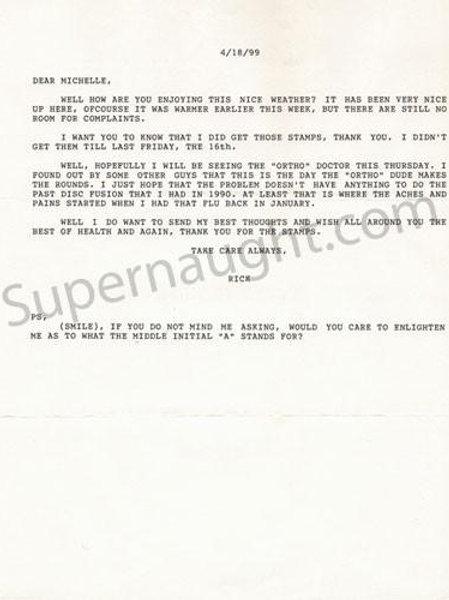 Richard Allen Davis letter