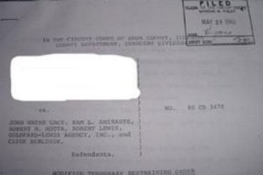 John Wayne Gacy restraining order