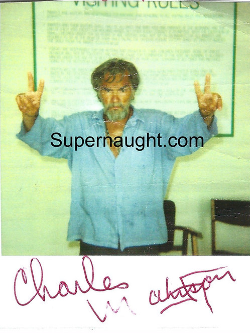 Charles Manson autographed photo