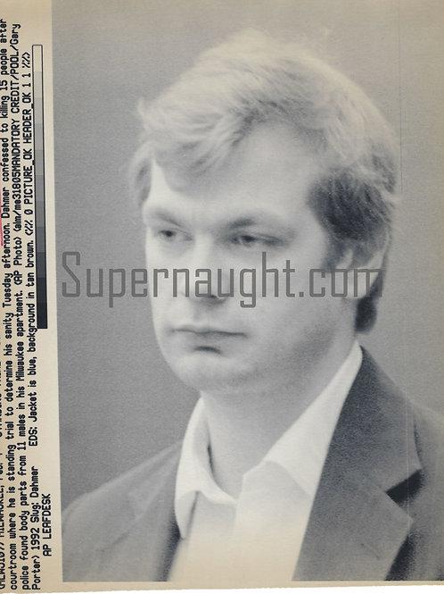 Jeffrey Dahmer Standing Trial Press Photo