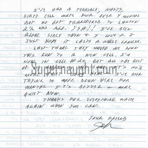 john hamilton letter