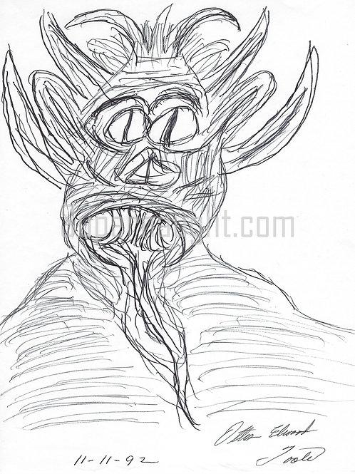 Ottis Toole Monster Artwork Signed