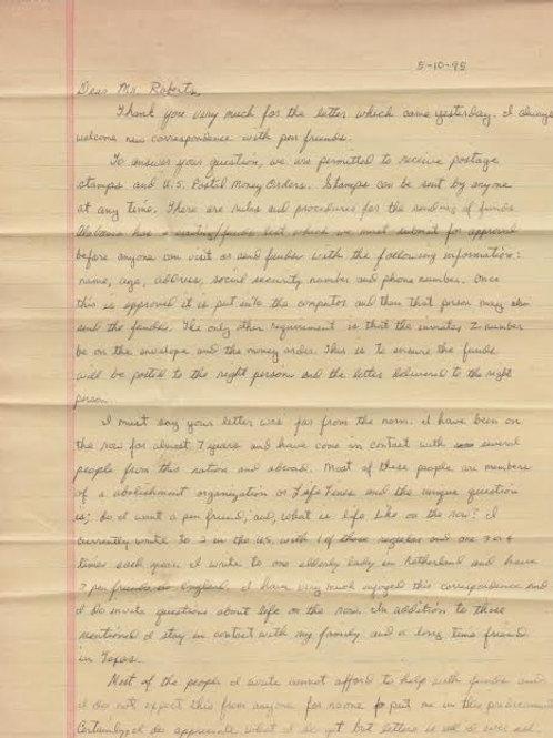Raymond Brown letter