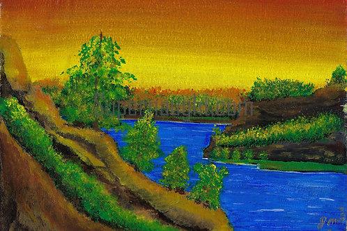 Landscape Acrylic Prison Painting