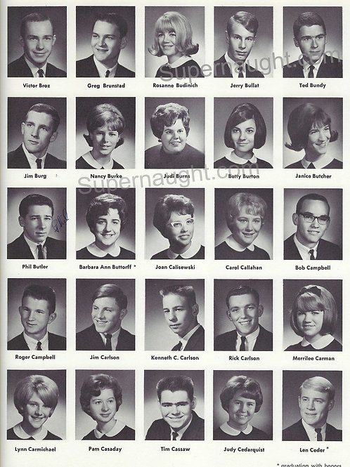 ted bundy autographed yearbook