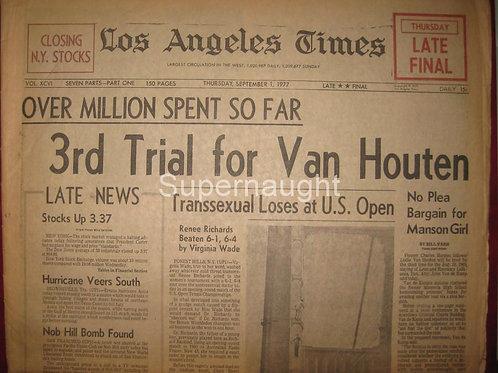 Leslie Van Houten 1977 newspaper