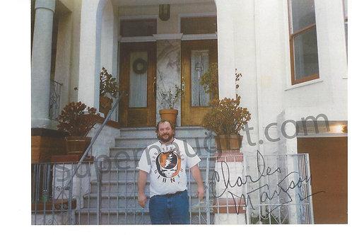 Charles Manson Signed San Francisco Apt Photo