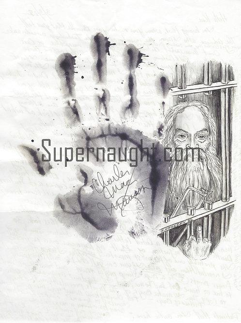 Charles Manson Signed Hand Print