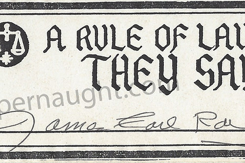 james earl ray signed