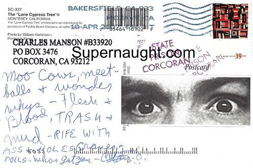 Charles manson autographs