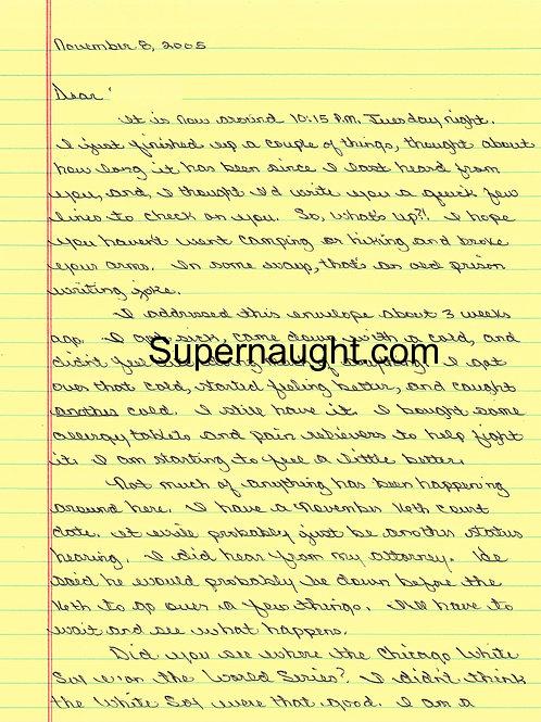 milton johnson letter