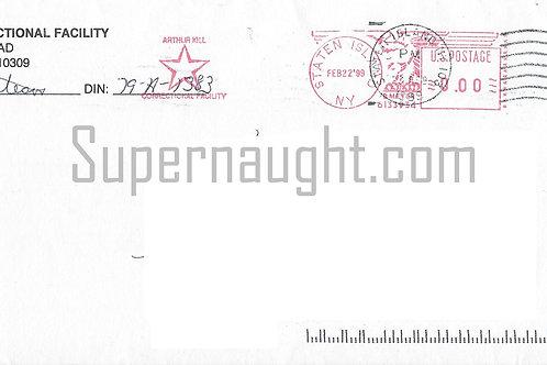 Paul Bateson Signed Prison Envelope