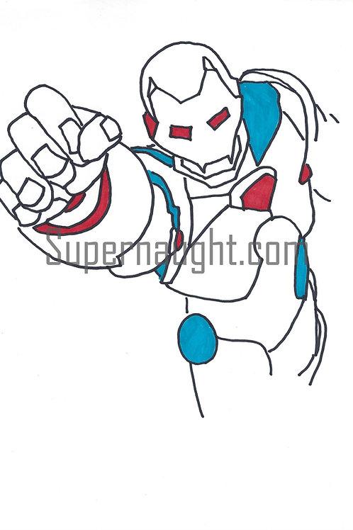 Richard Ramirez Signed Iron Man Drawing