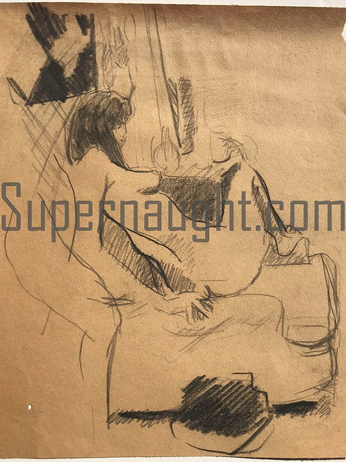 Robert Berdella Woman And Chair Drawing