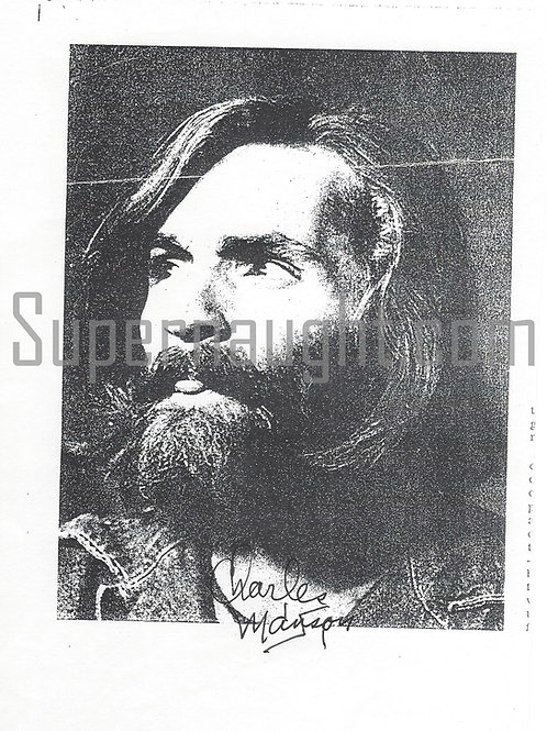 Charles Manson autographed photo