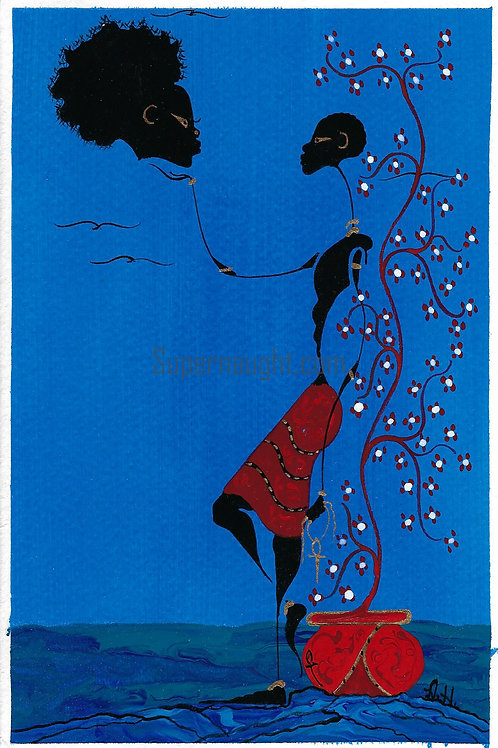 Alphonso Howard Hand Painted Card Signed