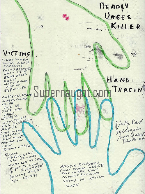 Phillip Jablonski Signed Hand Tracings