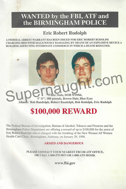Eric Rudolph wanted