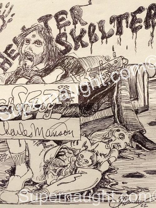 Charles Manson Signed Helter Skelter Sharon Tate