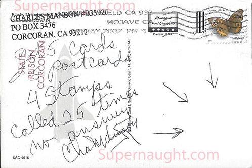 Charles Manson postcard