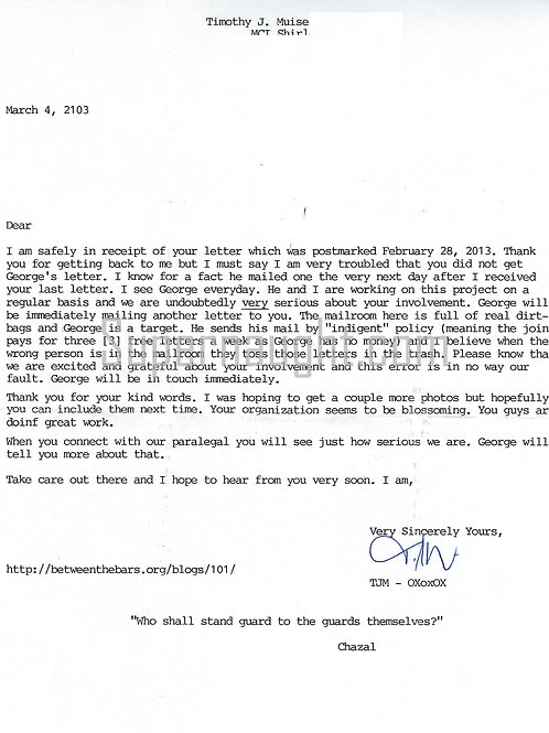 timothy muise letter