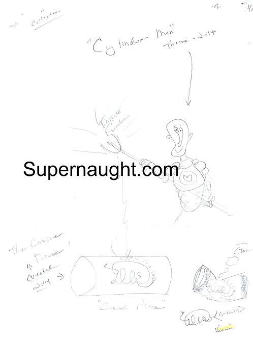Dennis Rader Cylinder Man Drawing Signed Four Times