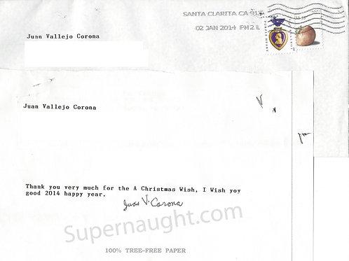 Juan Corona autograph