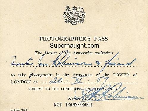 John Robinson photo pass