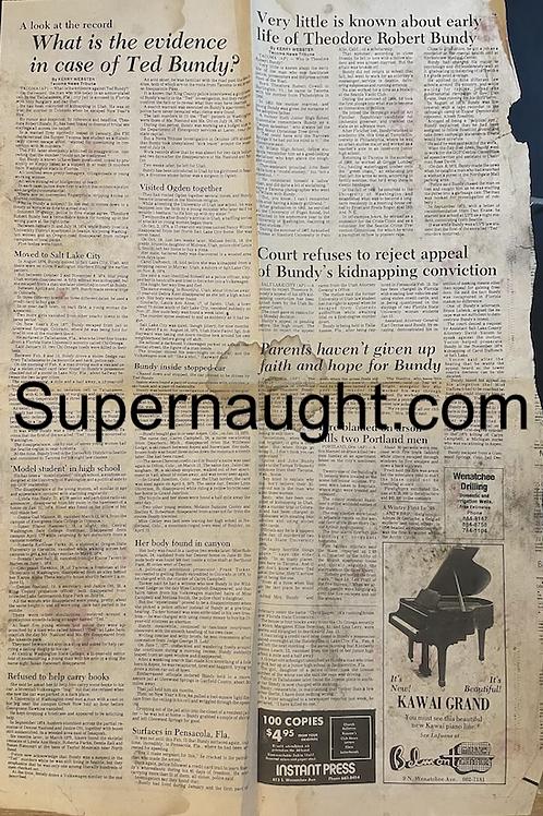 Ted Bundy vintage paper