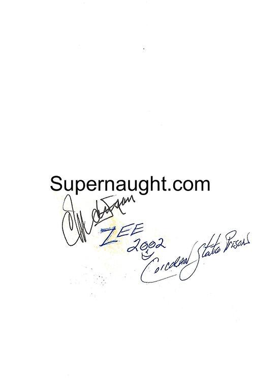 Charles manson autograph