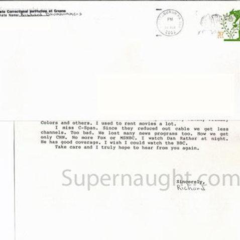 Richard Baumhammers letter