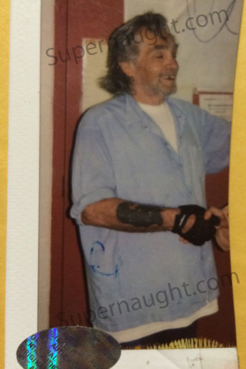 Charles Manson signed polaroid