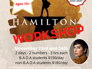 Hamilton workshop!!!