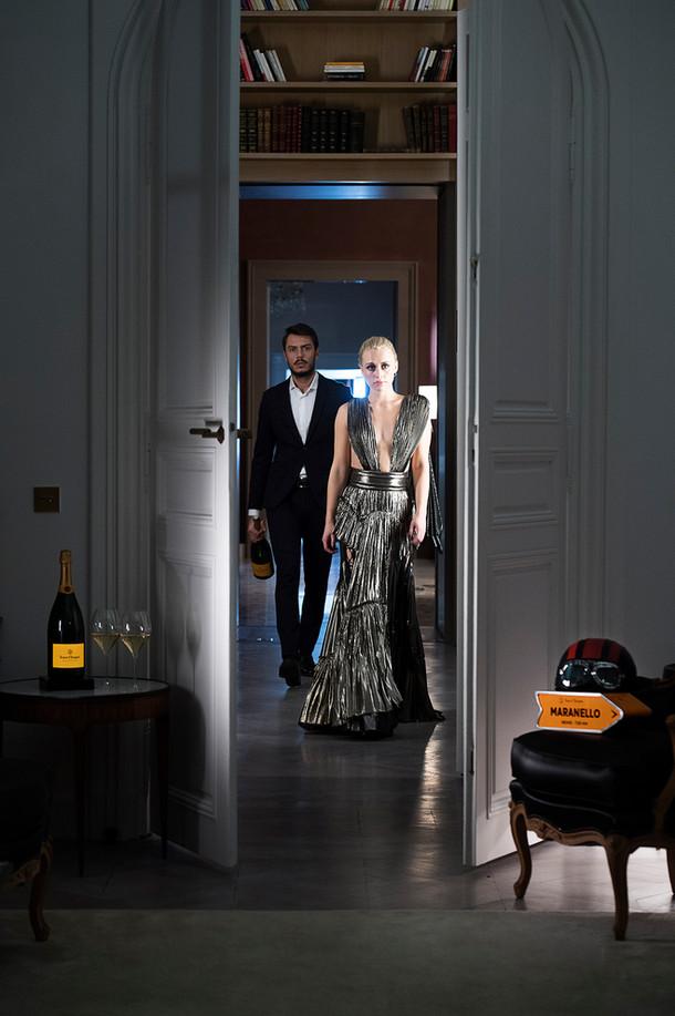 Shooing partenariat Veuve Clicquot Ferrari