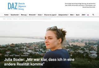 Interview with Julia Boxler on BYE BYE BABY at Deutsche Allgemeine Zeitung! 🐎 #movingmountainsfilms