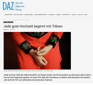 Interview on 'Grab and run' with DAZ - Deutsche Allgemeine Zeitung