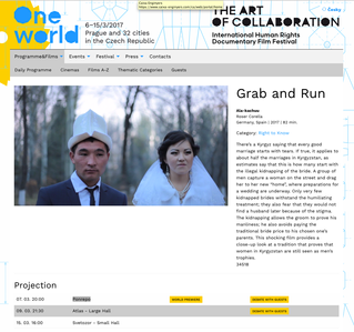 Next week in Prague, GRAB AND RUN will be on the big screen. Ready for the World Premiere!